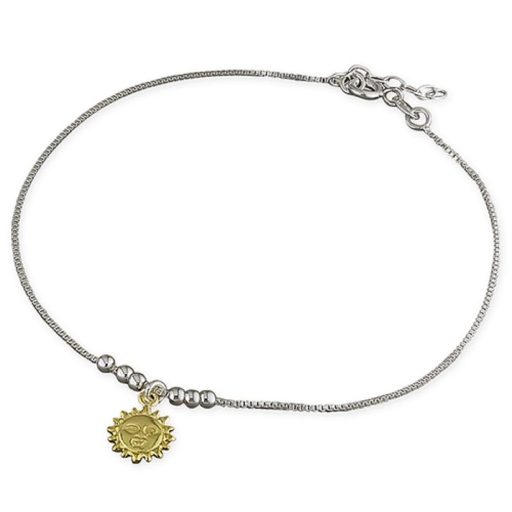 irish anklet gold shipping yellow overstock free watches inch product claddagh jewelry today